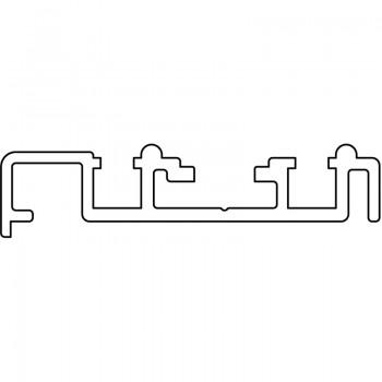 Vodilica ugradnja vijcima - 6000 mm aluminij eloksirani