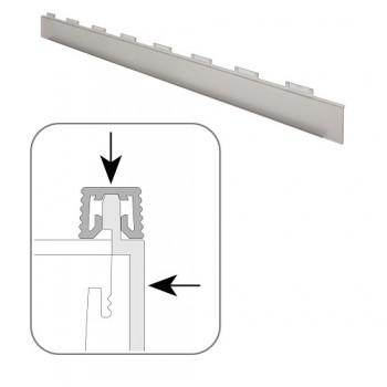 CUISIO bočni završni element, prozirna plastika, grafit