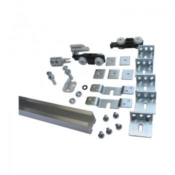 Garnitura okova za klizna vrata do 40 kg s vodilicom 1650 mm i...