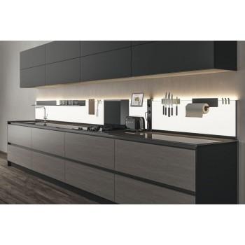 L & S K panel Dual Color, rasvjeta,  600mm crna opal