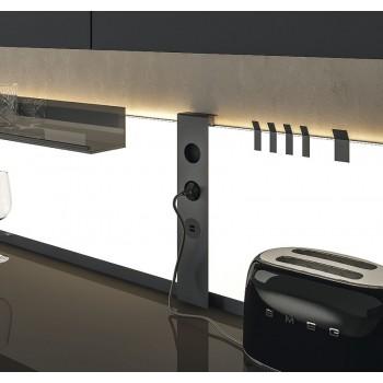 L & S K Panel ugradbena utičnica dvije utičnice, 2 USB punjača, crna