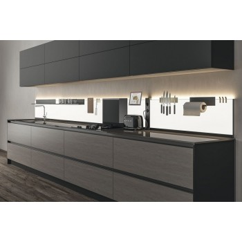 L & S K panel Dual Color, rasvjeta,  1800mm crna opal