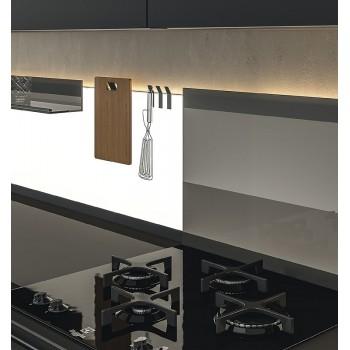 L & S K Panel kukica za vješanje na panel svjetiljku crna