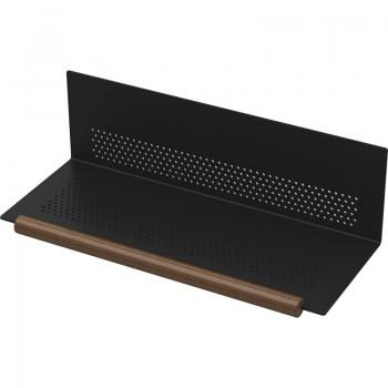 L & S K Panel Metalna ovjesna polica 300mm crna