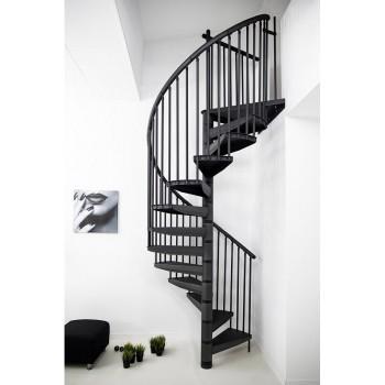 Spiralne montažne stepenice Rondo-Color antracit 160