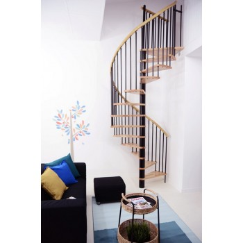 Spiralne montažne stepenice Spiral Decor 120 crno