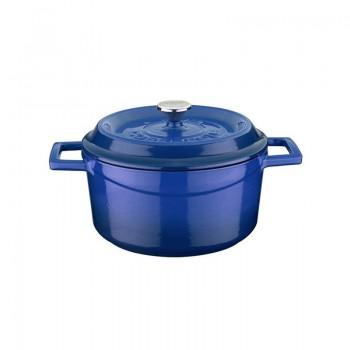 Lava okrugli lonac od gusa 20cm, s poklopcem, plavi