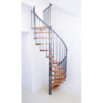 Spiralne montažne stepenice Berlin 120 bukva/srebro 27564