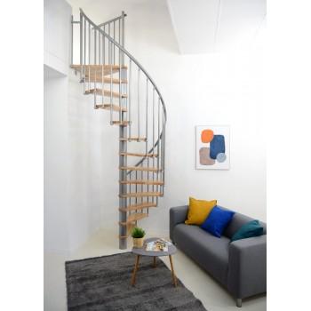 Spiralne montažne stepenice Berlin 120 breza/srebro 27565