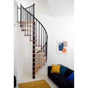 Spiralne montažne stepenice Berlin 120 breza/crno 27563