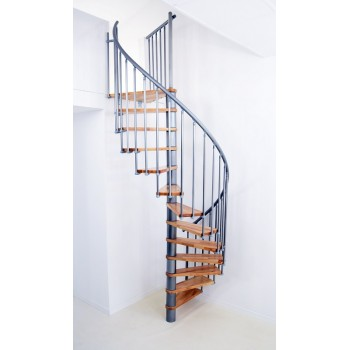 Spiralne montažne stepenice Berlin 140 bukva/srebro 27574