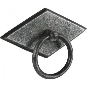 Preklopna ručkica Karo s pločicom,šir.68mm,vis.35mm željezo crno...