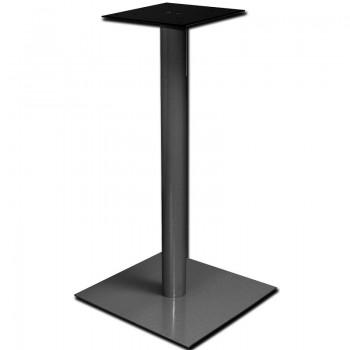 Postolje za barski stol Pegasus E - čelik srebrno obložen