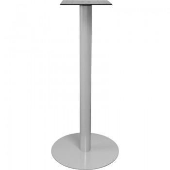 Postolje za barski stol Pegasus R - čelik srebrno obložen