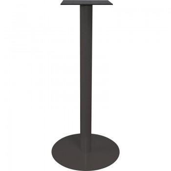 Postolje za barski stol Pegasus R - čelik crno obložen