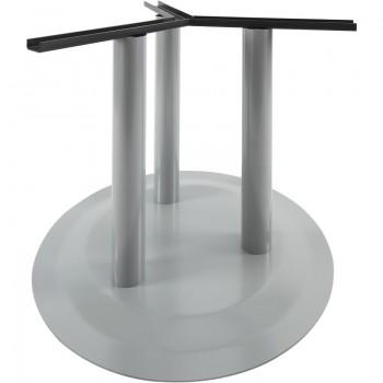Postolje za stol s pločom Rondal 3, s 3 noge - srebrno premazano