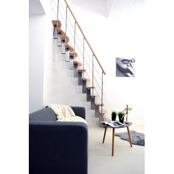 .Montažne stepenice ravne QUATRO srebrna bukva