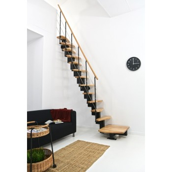 .Montažne stepenice QUATRO opcija 1/4 s navojem crna bukva