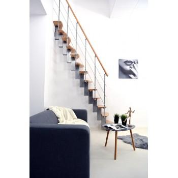 .Montažne stepenice ravne QUATRO srebrni orah