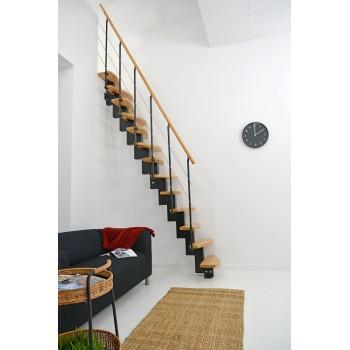 .Montažne stepenice ravne QUATRO crni orah