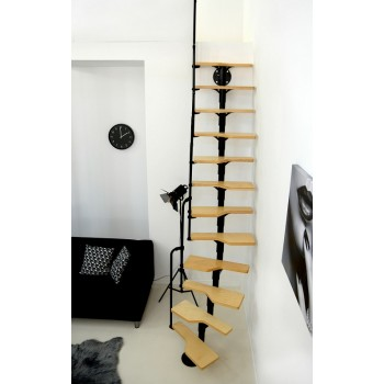 Montažne stepenice Twister Furnir Breza