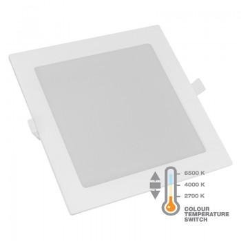 Commel LED panel 12W, kvadratni ugradbeni, CCT sklopka, 170 mm 337-414