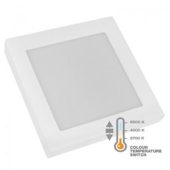 Commel LED panel 12W, kvadratni nadgradni, CCT sklopka, 172 mm 337-418