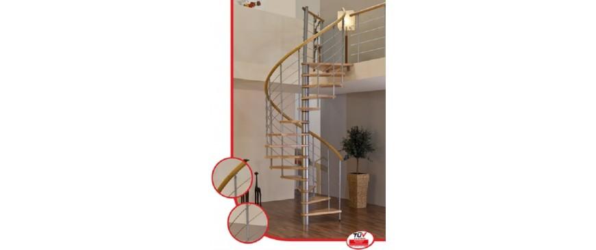 Spiralne montažne stepenice